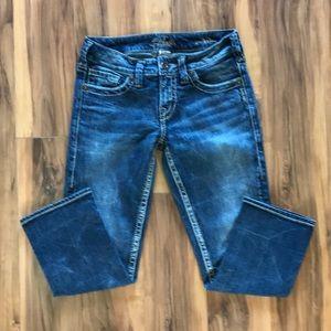 Silver Aiko Capri Jeans